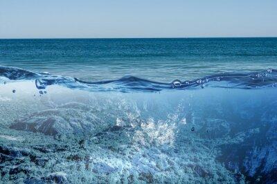 Obraz Ocean podwodny widok. Różne środki przekazu