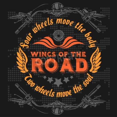 Obraz Odznaka rocznika rowerzystów. Elementy rowerowe retro chopper. Ilustracji wektorowych.