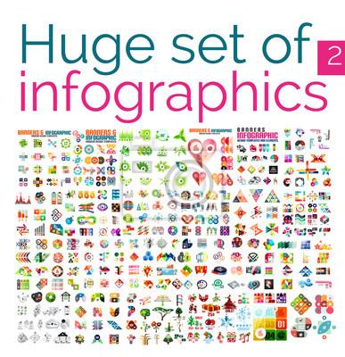 Obraz Ogromny infographic mega zestaw szablonów