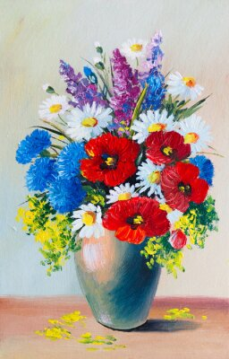 Obraz Oil Painting - still life, a bouquet of flowers