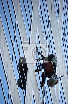 Obraz Okna wysokiego budynku czystsze
