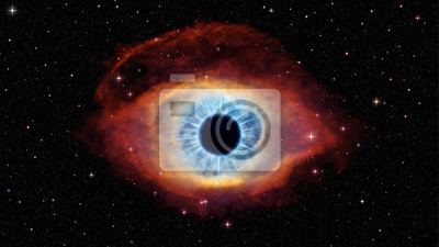 Obraz Oko Boga w mgławicy Helix. Zdjęcia oparto na zdjęcie z oficjalnej strony NASA.