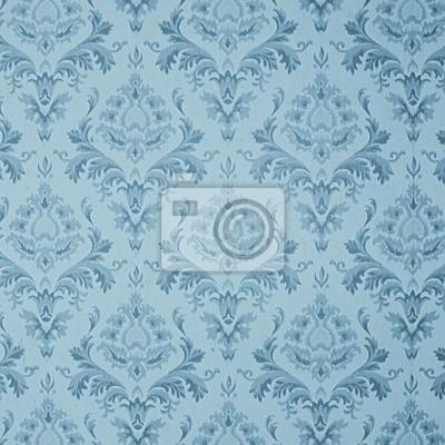 old blue vintage wallpaper
