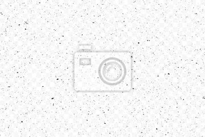 Obraz Old grunge black texture. Dark weathered overlay pattern sample on transparent background. Screen background. Vector.