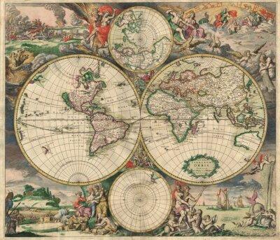 Obraz Old map (1689)