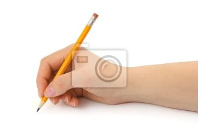 Ołówek w ręce kobiety