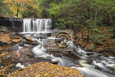 Oneida Falls Autumn - Ricketts Glen State Park, Pennsylvania