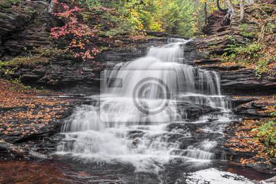 Onondaga Falls w Ricketts Glen - Pensylwania