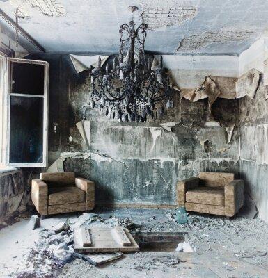 Obraz opuszczone wnętrza