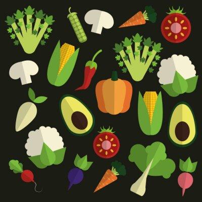 Obraz Organic food design