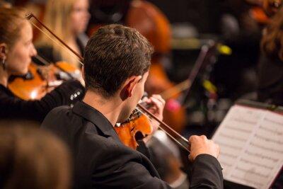 Obraz Orkiestra symfoniczna wykonywania.