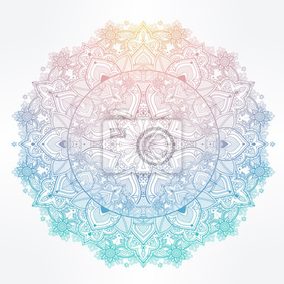 Obraz Ornate paisley round lace mandala.