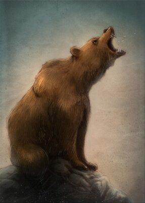 Obraz oso Pardo salvaje