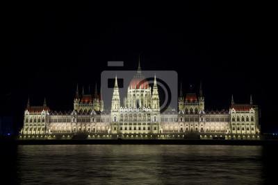 Oświetlony Parlament Budapeszt, Węgry