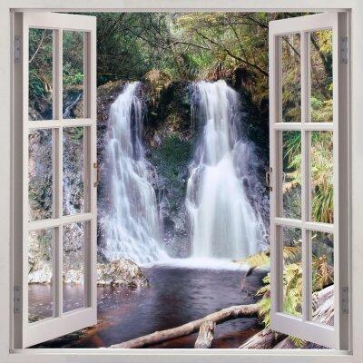 Obraz Otwórz okno widok na Hogarth Falls, Tasmania
