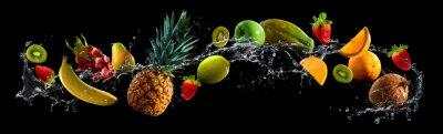 Obraz Owoce z plusk wody