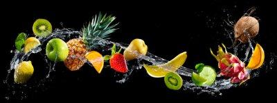Obraz Owoce z splash wody