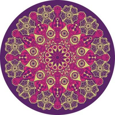 Obraz ozdobne koronki okrągły wzór, okrąg tła z wielu Detai