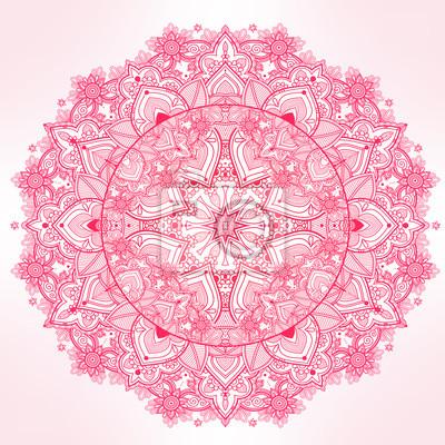 Obraz Ozdobny Paisley koronki okrągły mandali.