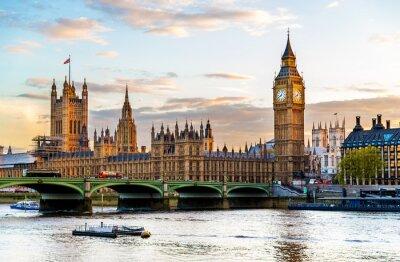 Obraz Pałac Westminsterski w Londynie w godzinach wieczornych - Anglia