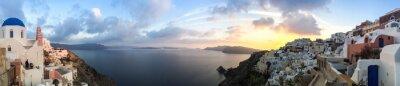 Obraz Panorama à à Oia Santorini, Cyklady les en Grèce