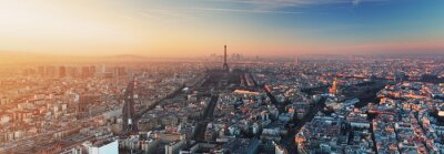 Obraz Panorama of Paris at sunset