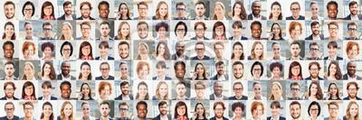 Obraz Panorama Portrait Collage von Geschäftsleuten