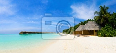 Panorama tropikalnej plaży