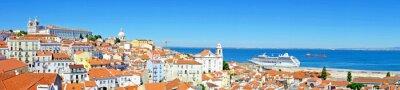 Obraz Panorama z Lizbony w Portugalii