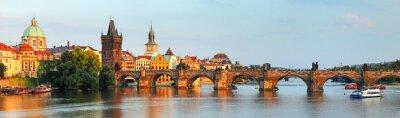 Obraz Panorama z mostu Karola w Pradze, Republika Czeska
