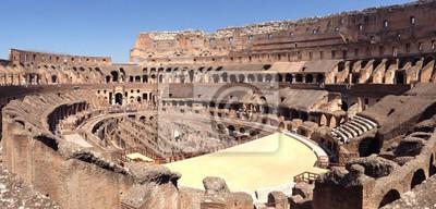 Obraz Panorámica Wnętrze del Coliseo romano de día, Italia, Roma