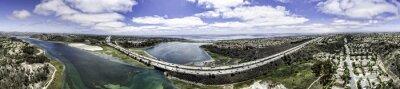 Obraz Panoramiczny z lotu ptaka Zalew w Carlsbad Batisquitos, Kalifornia, USA.