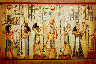 Obraz Papyrus. Old naturalny papier z Egiptu
