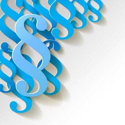 Obraz Paragraf Papier Muster Hintergrund BLAU
