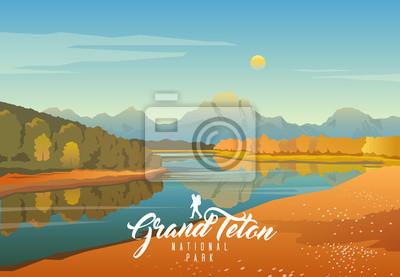 Obraz Park Narodowy Grand Teton. Natura Wyoming. Moran.