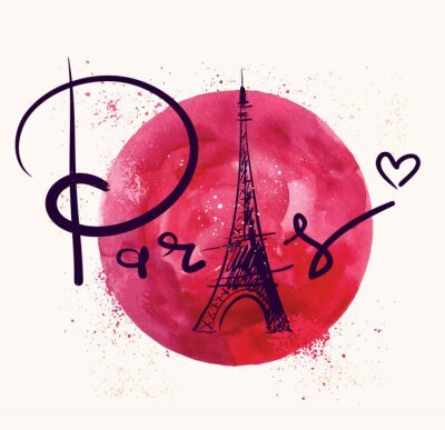Obraz Paryż i czerwone koło