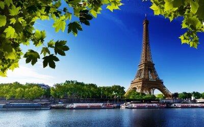 Obraz Paryż Wieża Eiffla Francja River Beach drzew