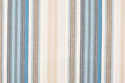 Obraz Paski niebieski i brązowy wzór tkaniny jako tło. Zamknąć na różnych pionowe paski materiału tekstury tkaniny.