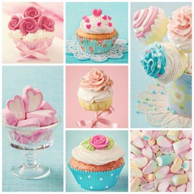 Obraz Pastel kolorowe słodycze