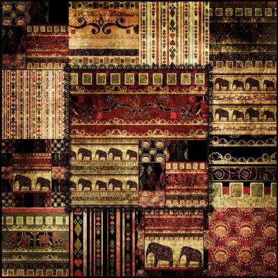Obraz Patchwork afryki tło wzór druku