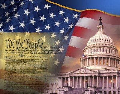 Obraz Patriotyczne symbole - Stany Zjednoczone Ameryki