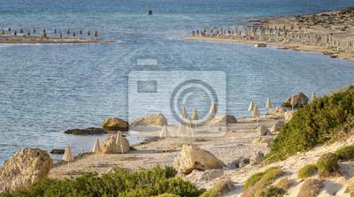 piaszczystej plaży w zatoce Balos na Krecie