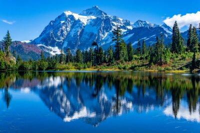 Obraz Picture Lake Reflection of Mount Shuksan