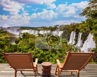 Picturesque famous waterfalls