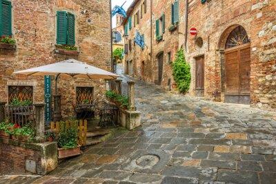 Obraz Piękna aleja w Montepulciano, Tuscany, Włochy