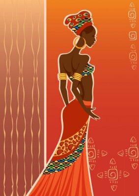 Obraz Piękna czarna woman.African kobietą.