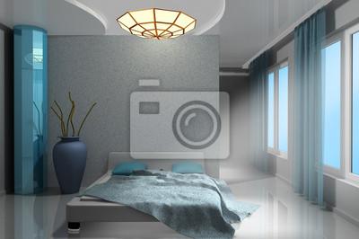 Piękna nowoczesna sypialnia