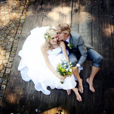 Obraz Piękna para ślub