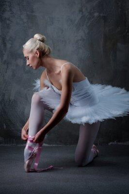 Obraz Piękna tancerka baletowa