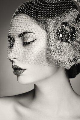 Obraz Piękna twarz kobiety. Idealny makijaż